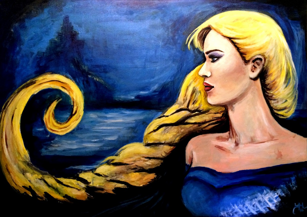 Acrylic painting on canvas Frozen