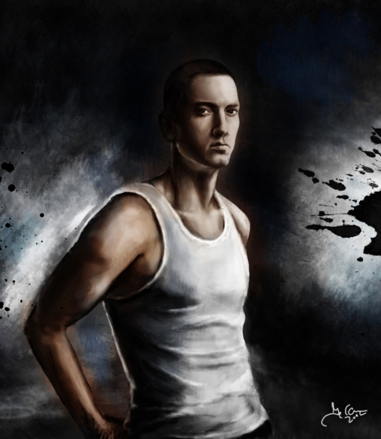 Digital painting Eminem