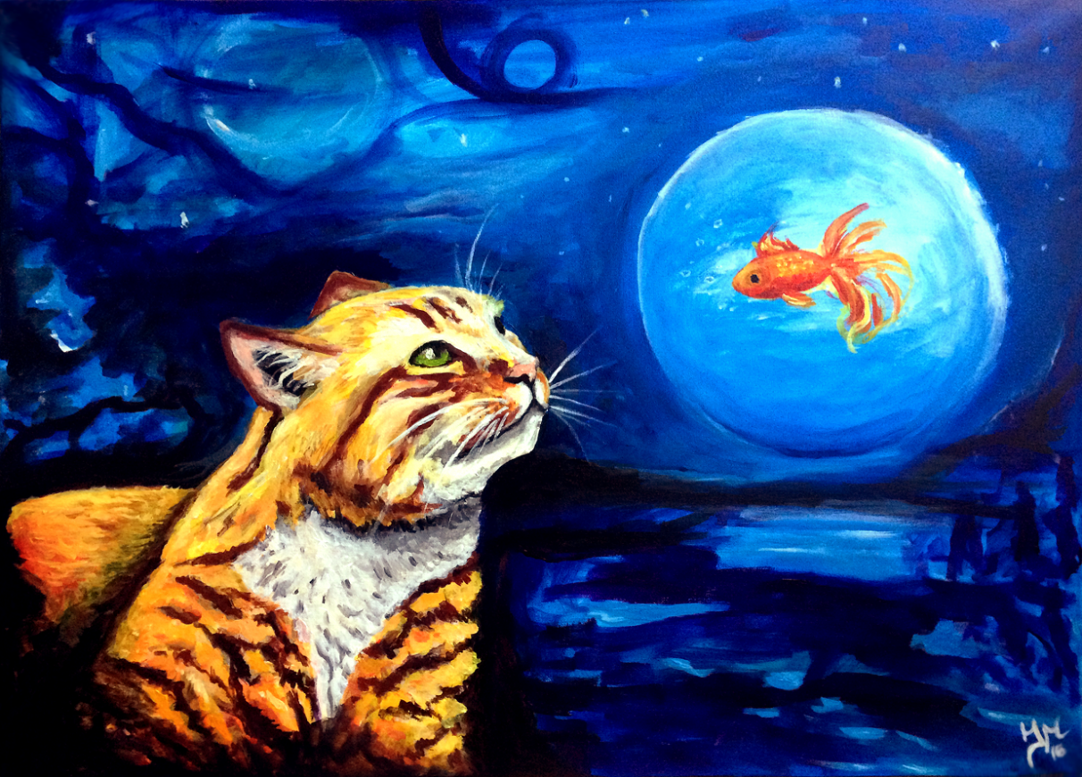 Acrylic painting on canvas Dreams of Pisces