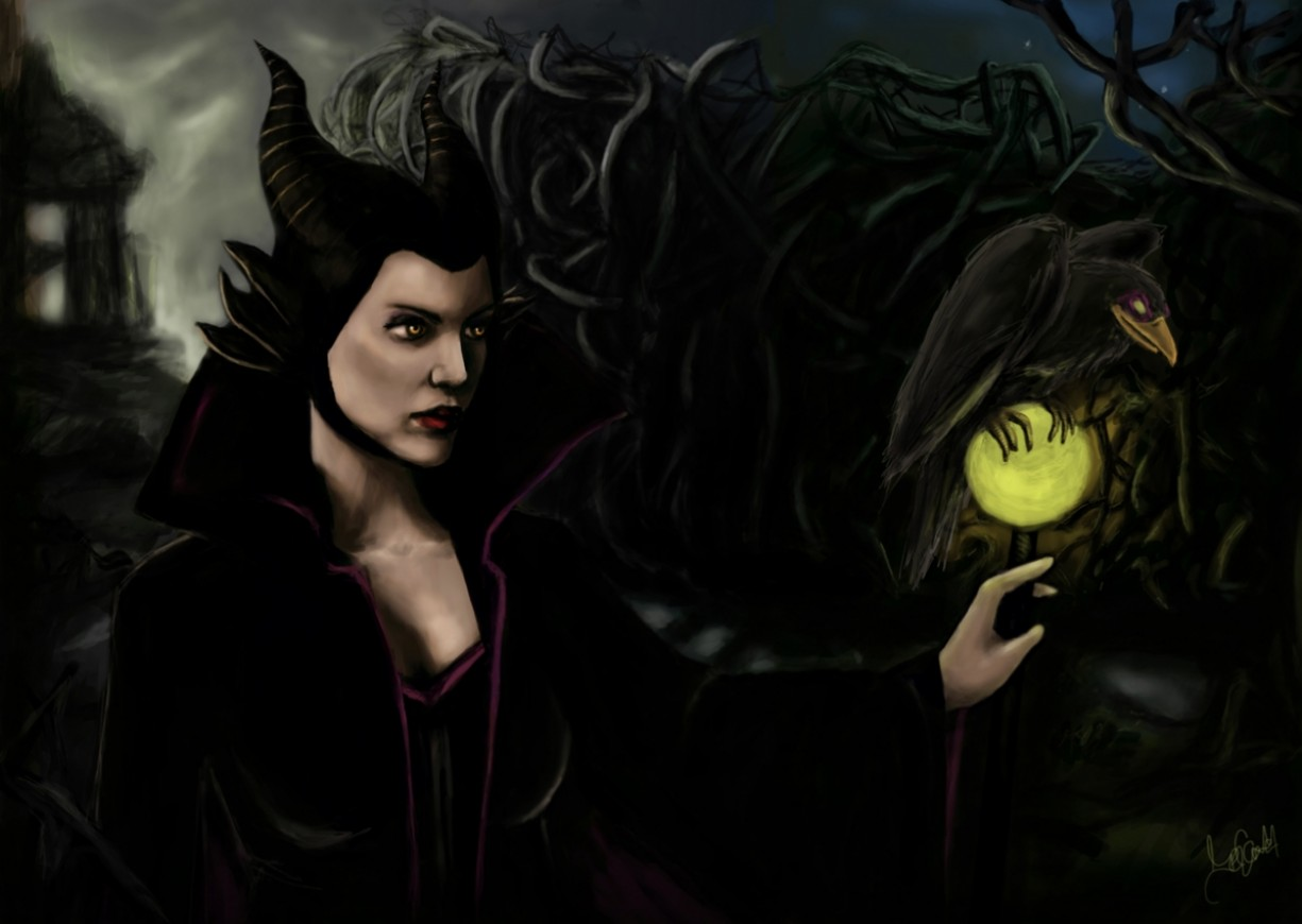 Digital painting Maleficent
