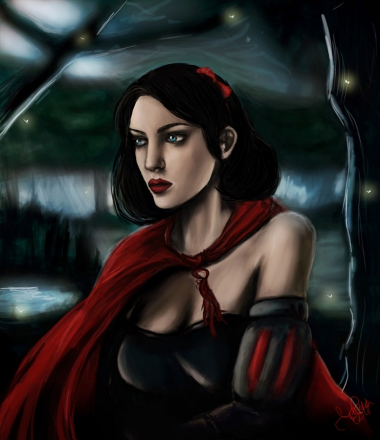 Digital painting Snow White