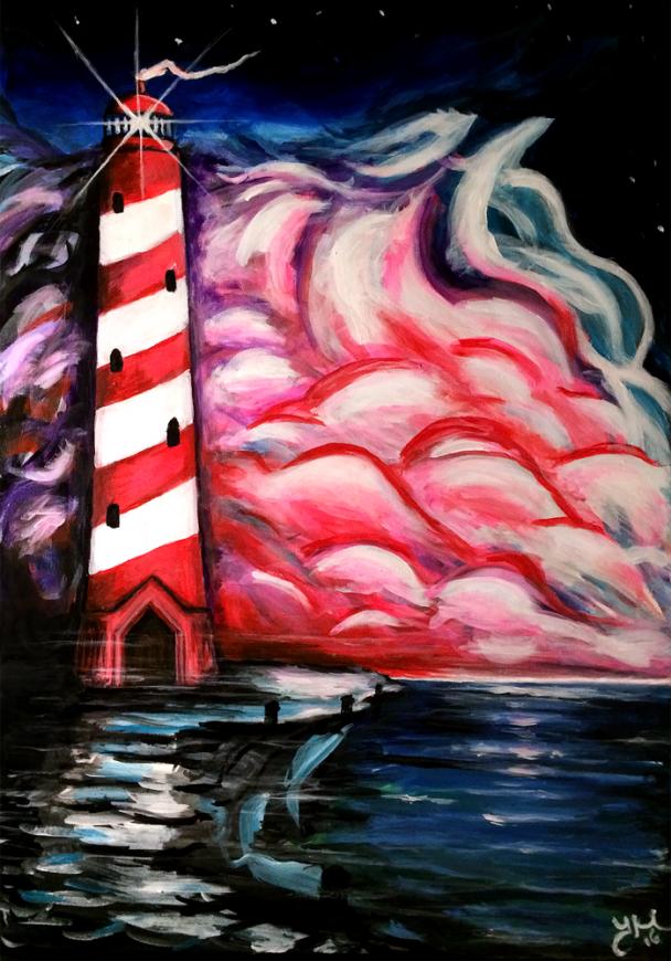 Acrylic painting on canvas Lighthouse