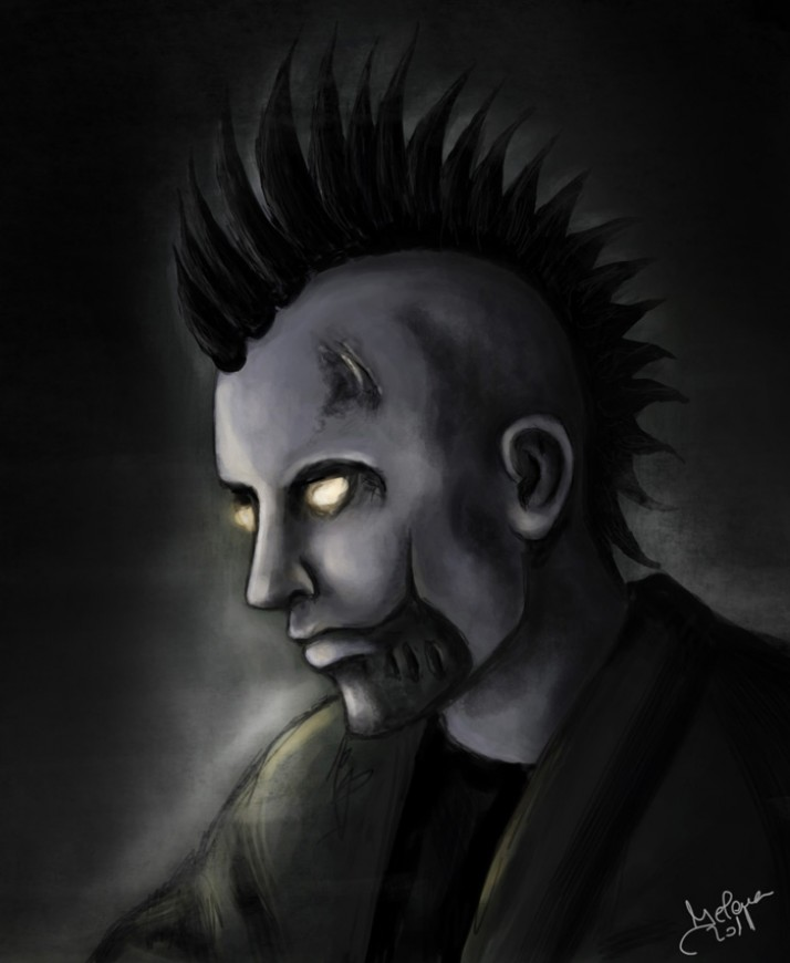 Digital painting Undead